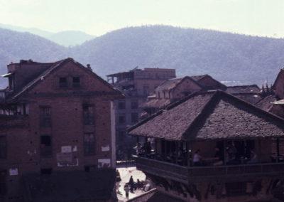 Bhadgaon café Nyatapola en 1981