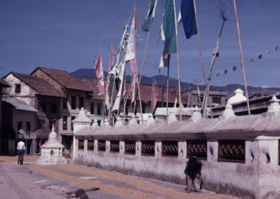 Moulins à prières de Bodnath en 1981