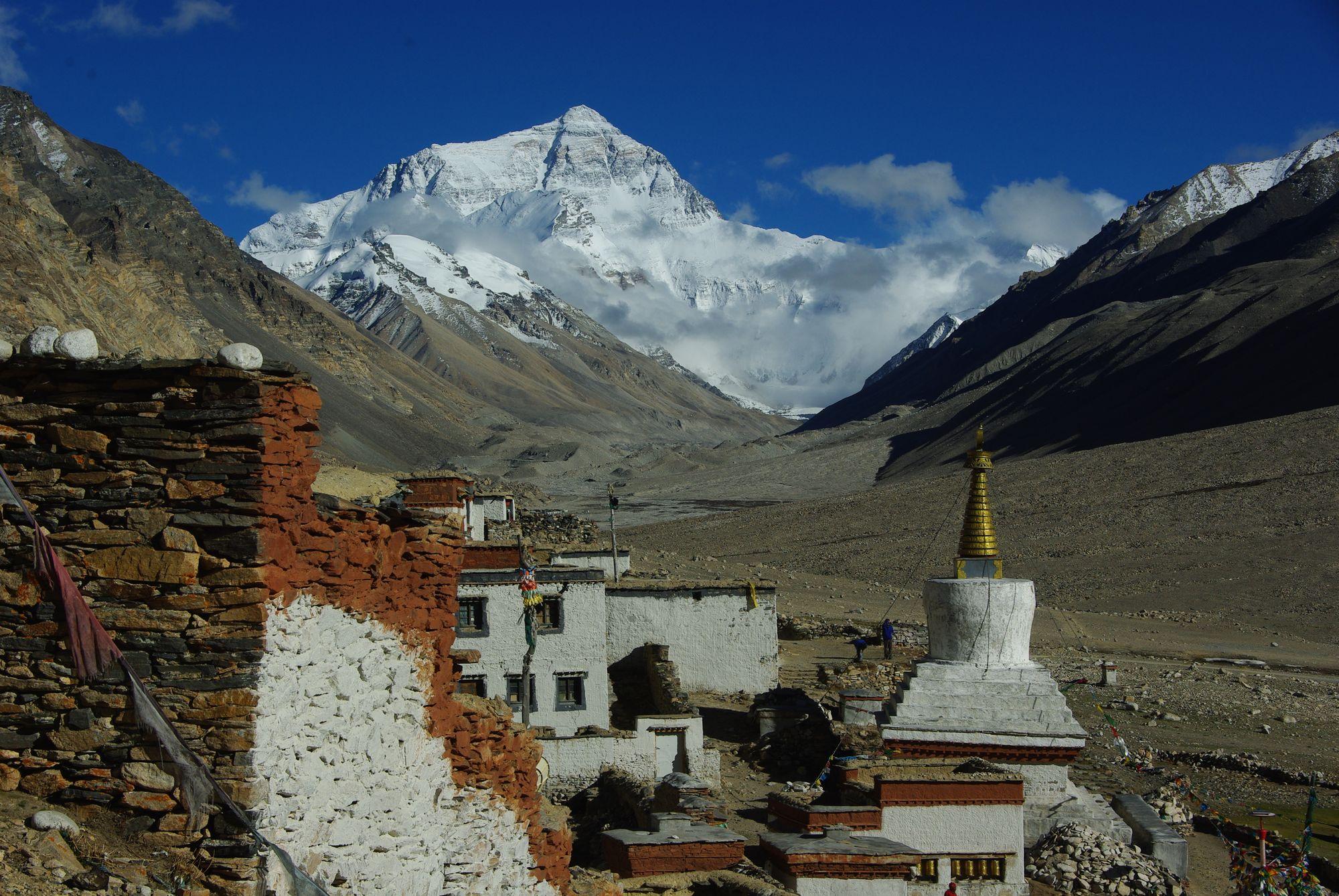 Rongbuk camp de base nord Everest