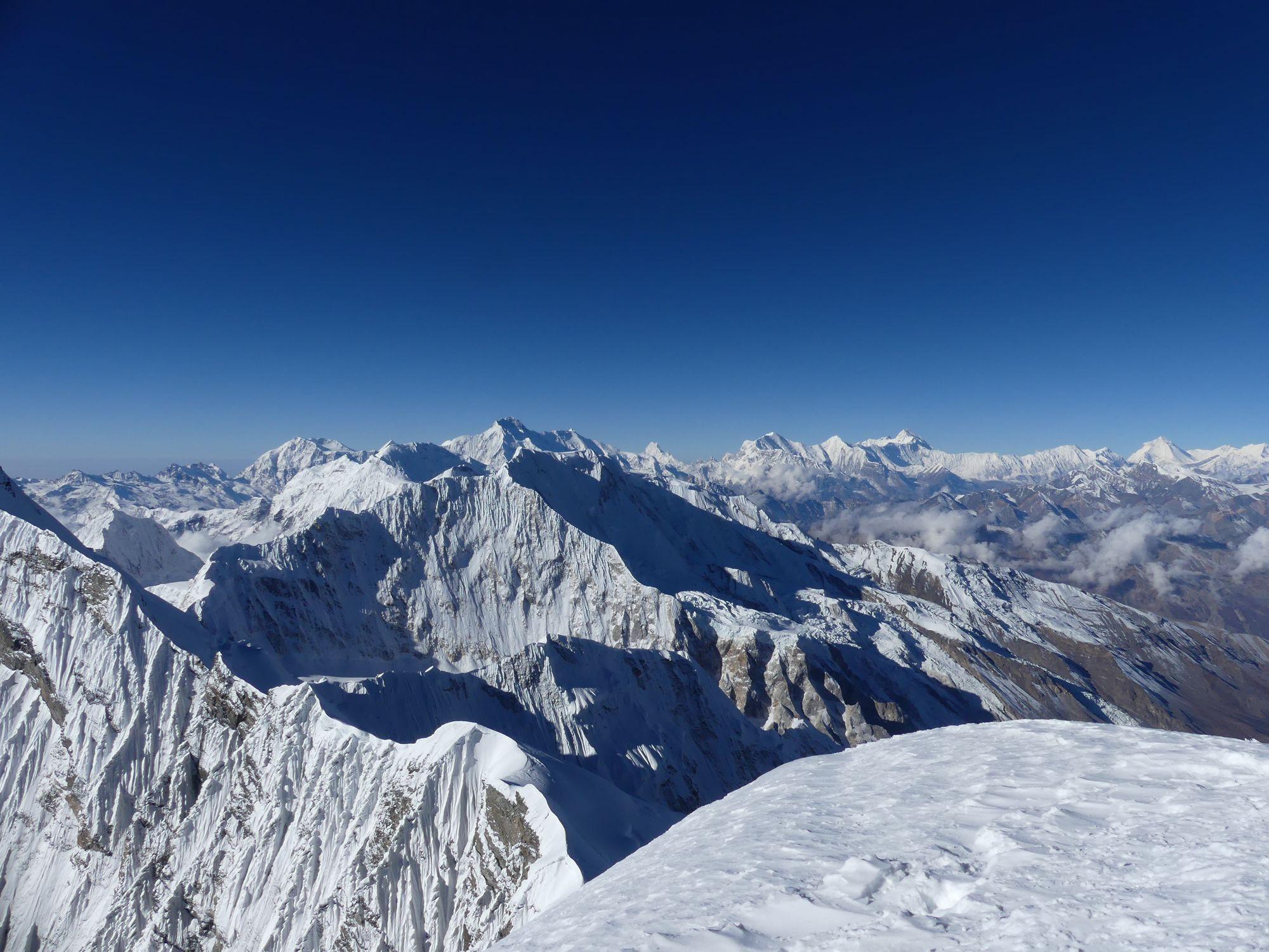 Sommet Himlung vue Annapurna
