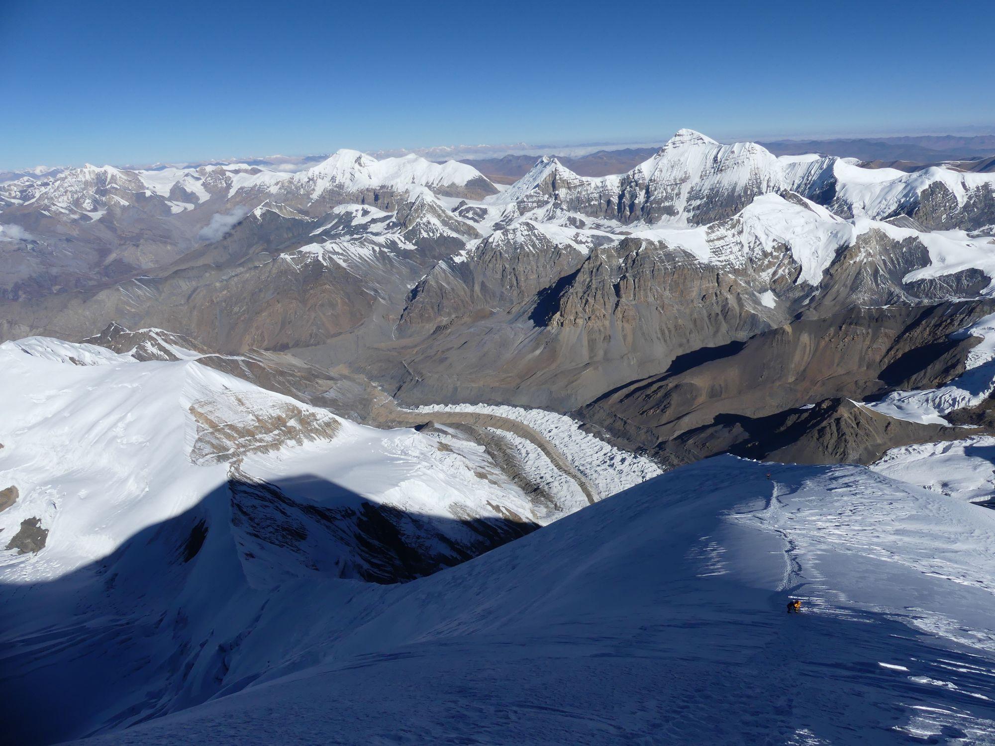 Sommet Himlung vue Tibet
