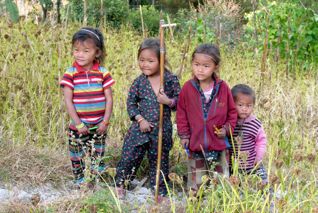 Enfants sherpas népalais