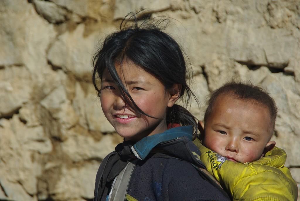 Enfant tibétain à l'ouest Népal