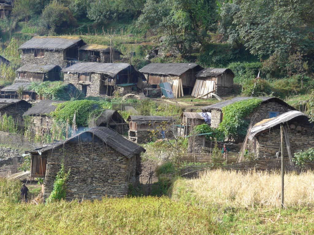 Village du trek du Kanchenjunga au Makalu