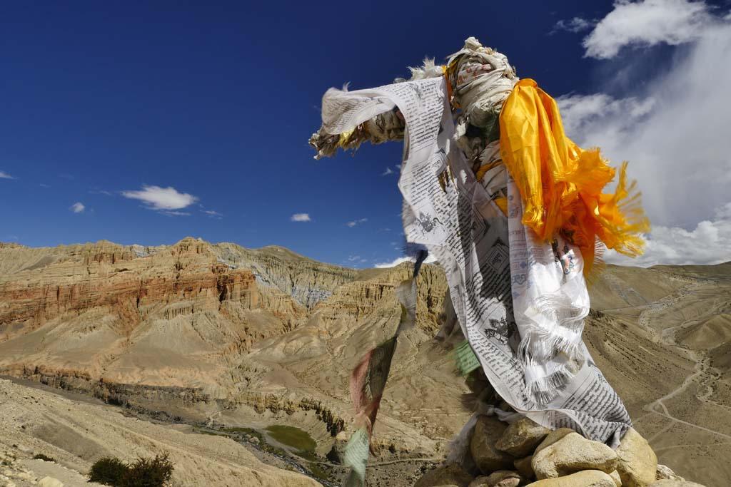 Trek du Mustang, falaises de Dhakmar