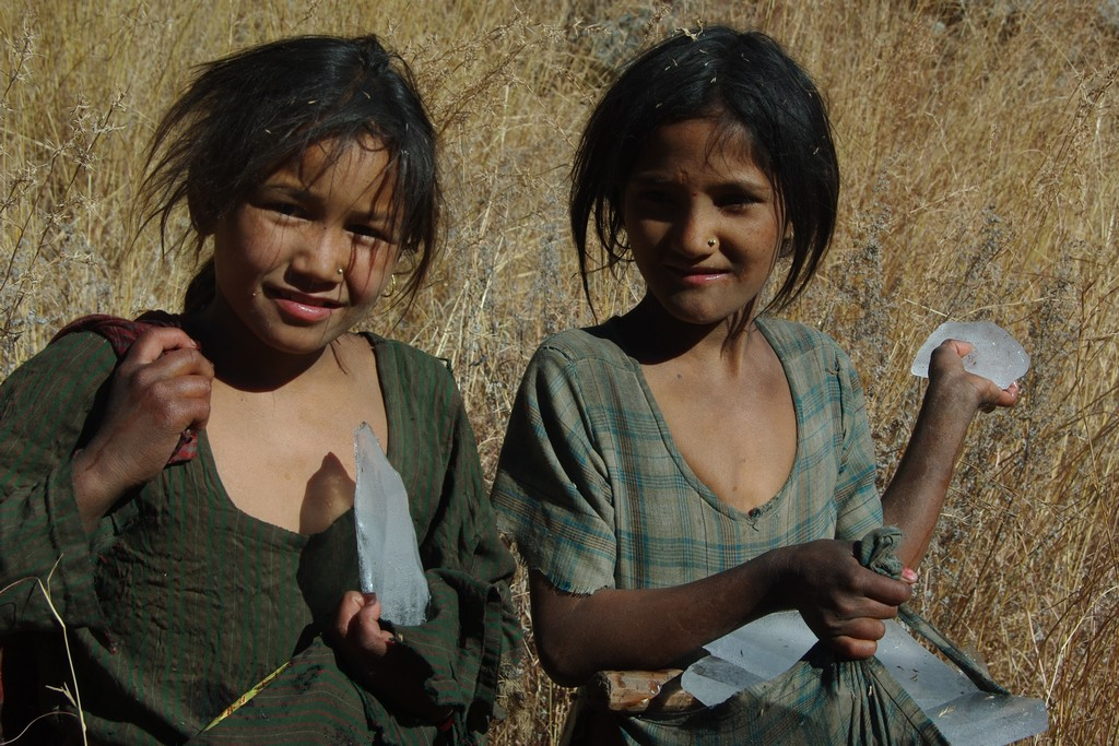 Enfant vers Simikot à l'ouest Népal