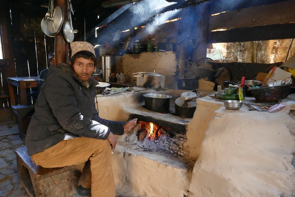 Tea house à l'ouest du Népal
