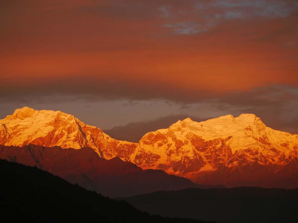 Trek balcon des Annapurna, vue himalaya