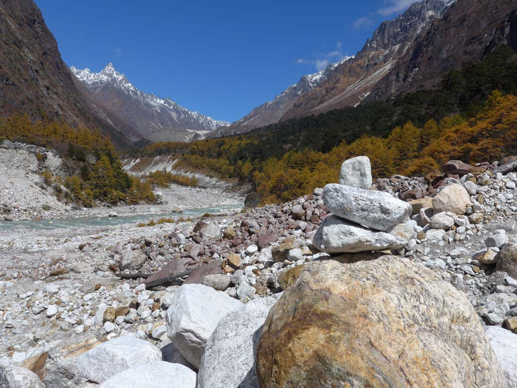 Depuis Ghunsa vers camp de base nord du Kanchenjunga