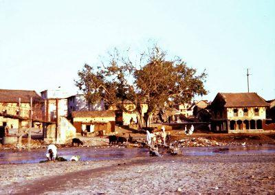 Rives de la Bagmati, kathmandu en 1973