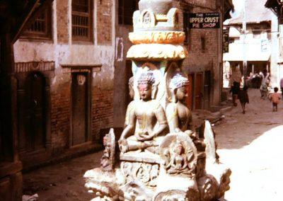 Stupa à Kathmandu en 1973