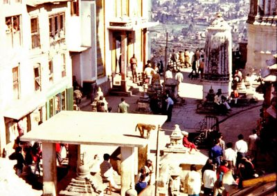 Vue de Kathmandu depuis le temple de Swayambunath en 1973